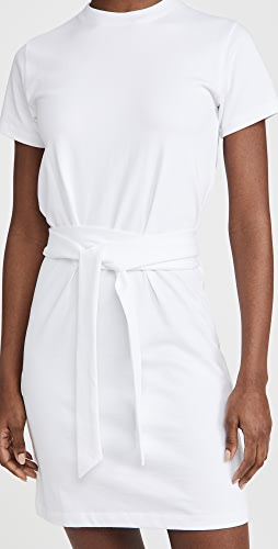 Vince - Short Sleeve Dress with Tie Waist