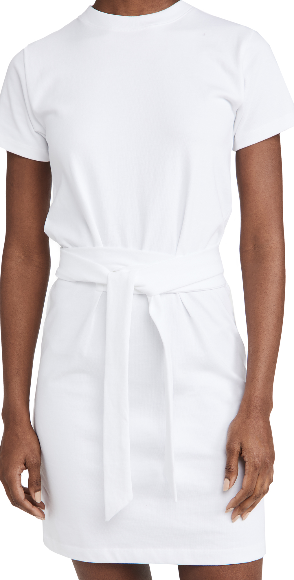 Vince SHORT SLEEVE DRESS WITH TIE WAIST