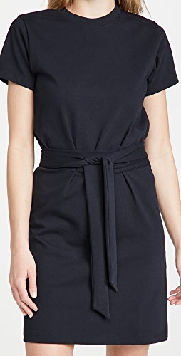 Vince - Short Sleeve Dress with Tie Waist