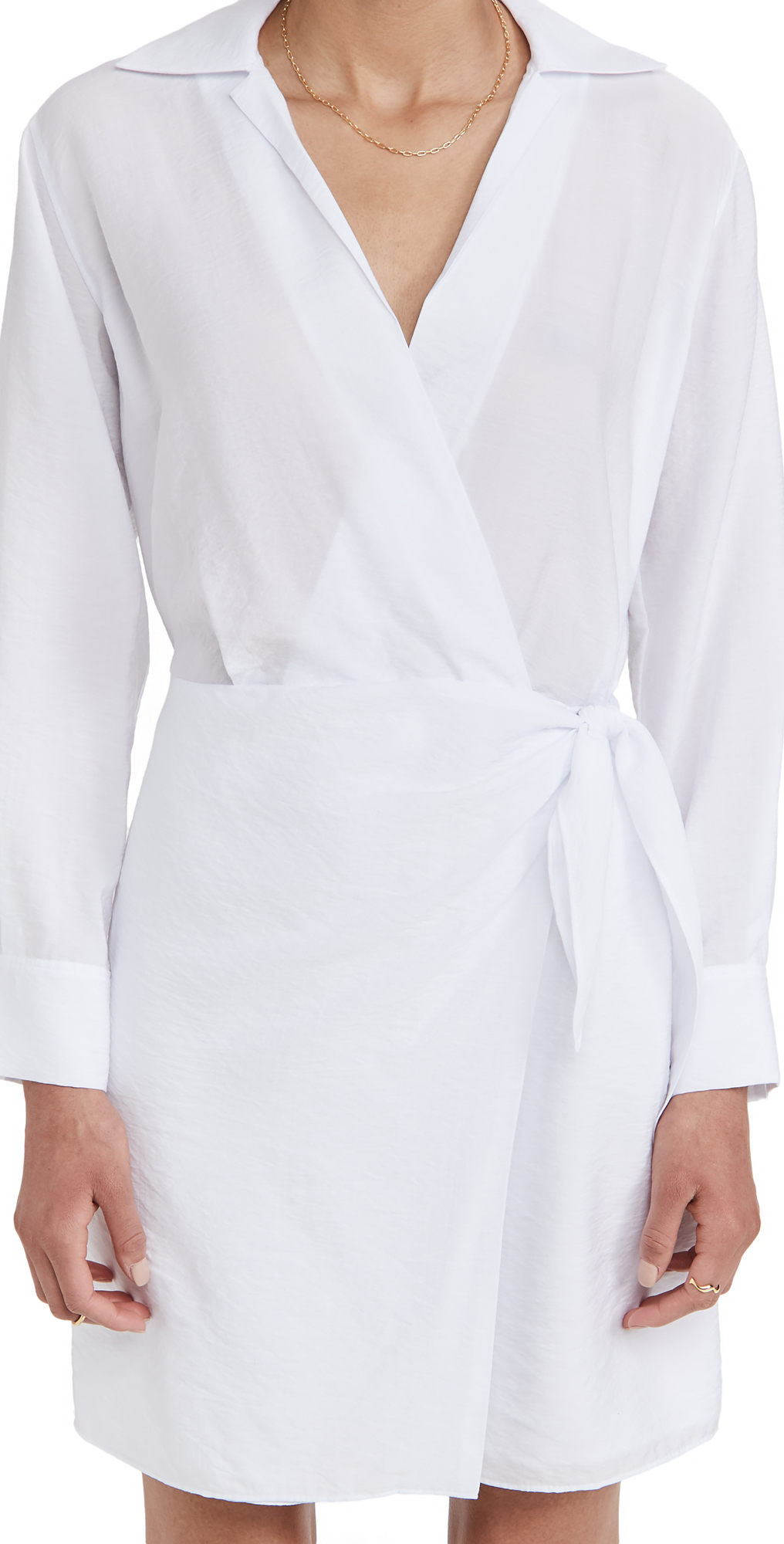Vince Wrap Shirt Dress