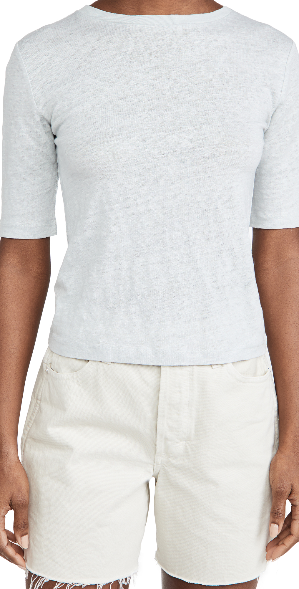 Vince LINEN RELAXED CREW TEE