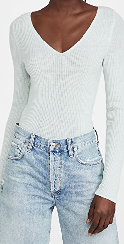 Vince - Cashmere Slim Rib V Neck Sweater