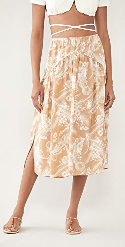 Vince - Wheat Tiered Skirt