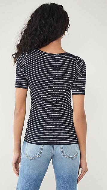 Vince Stripe Ribbed Shirt