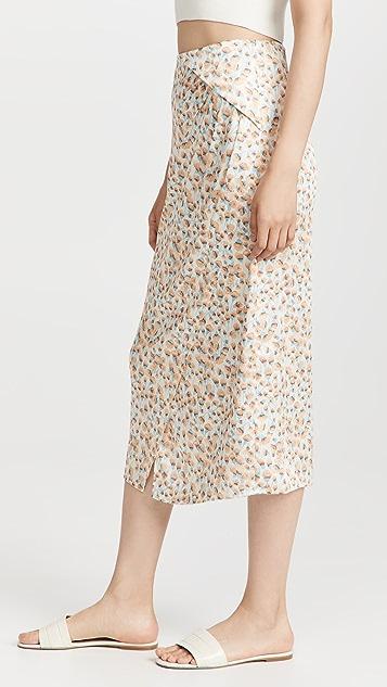 Vince Carnation 不对称层叠垂褶半身裙