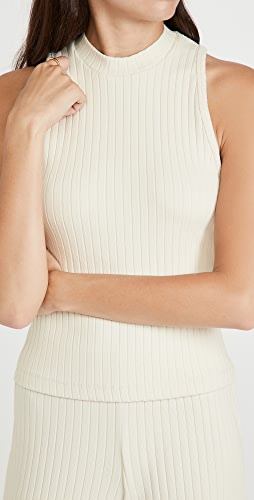 Vince - Ribbed High Neck Tank