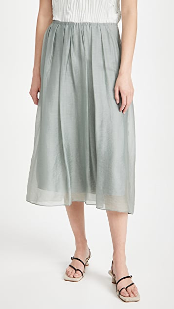 Vince Gathered Pull On Skirt