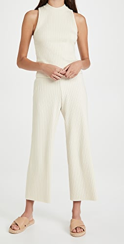 Vince - Ribbed Cropped Pants