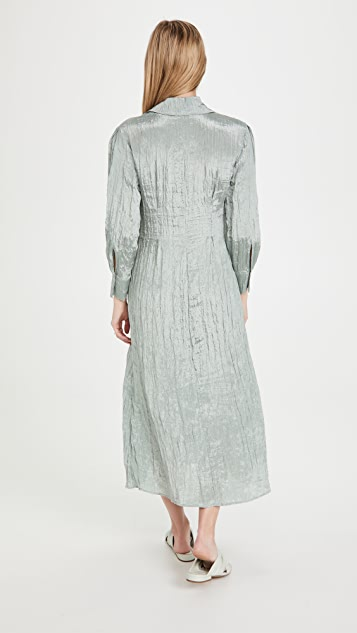 Vince Shaped Collar Fitted Dress