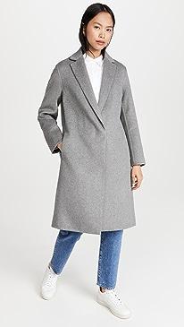 빈스 스니커즈 Vince Classic Coat,Medium Heather Grey