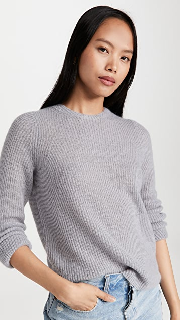 Vince Featherweight Ribbed Crew Sweater
