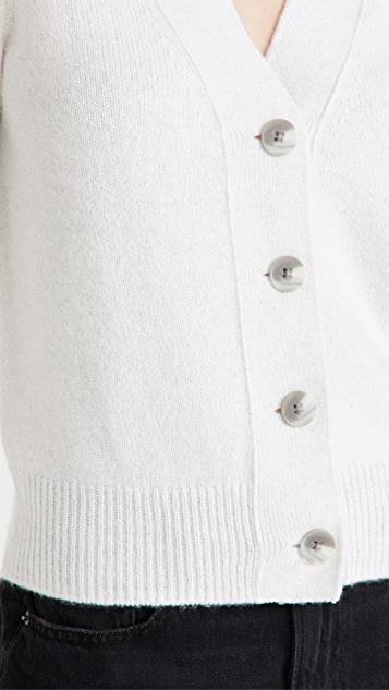 Vince Shrunken Button Cashmere Cardigan