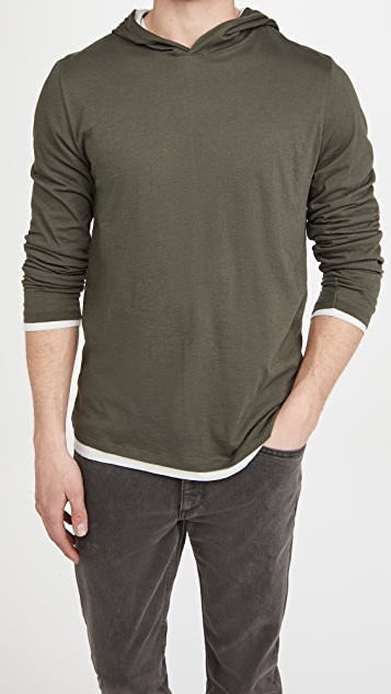 Vince Double Layer Hoodie