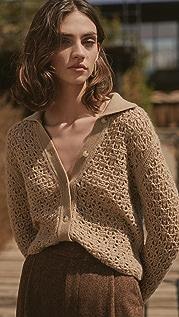 Vince Crochet Button Cardigan
