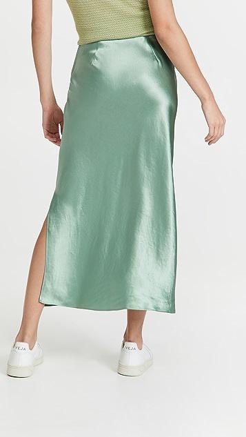 Vince Side Slit Slip Skirt
