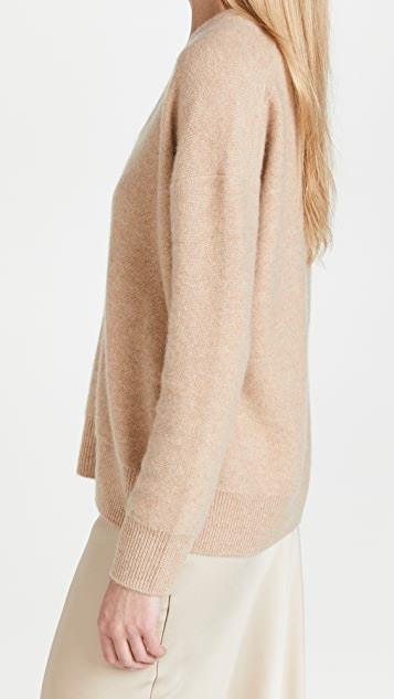 Vince Relaxed V Neck Pullover Cashmere Sweater