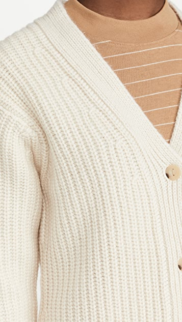 Vince Fitted Ribbed Cardigan