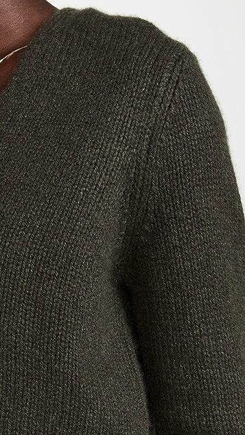 Vince Shrunken V Neck Cashmere Pullover