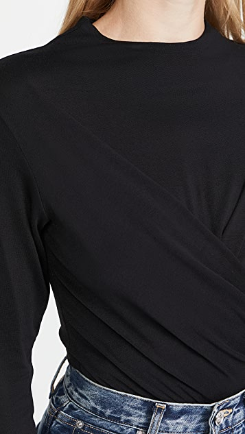 Vince Draped Thong Bodysuit