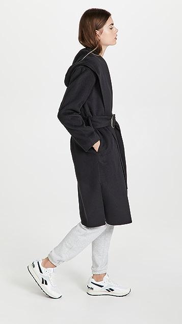 Vince Draped Hooded Coat
