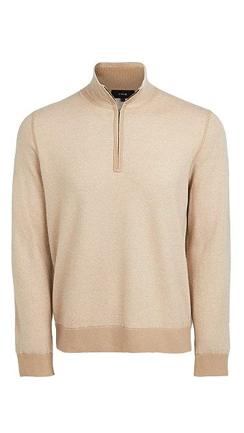 Vince Birdseye Quarter Zip Wool Sweater