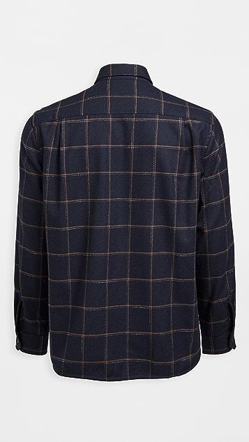 Vince Crosshatch Windowpane Shirt Jacket