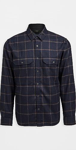 Vince - Crosshatch Windowpane Shirt Jacket