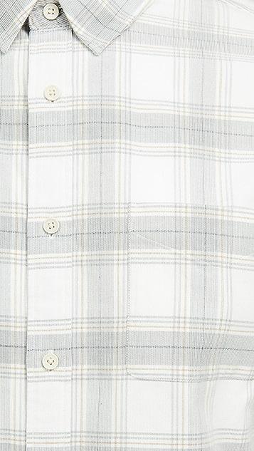Vince Corduroy Plaid Shirt