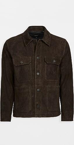 Vince - Suede Utility Jacket