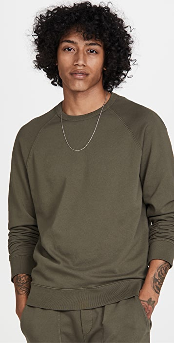 Vince Garment Dye Crew Sweatshirt