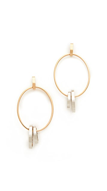 Vita Fede Cassio Two Tone Earrings