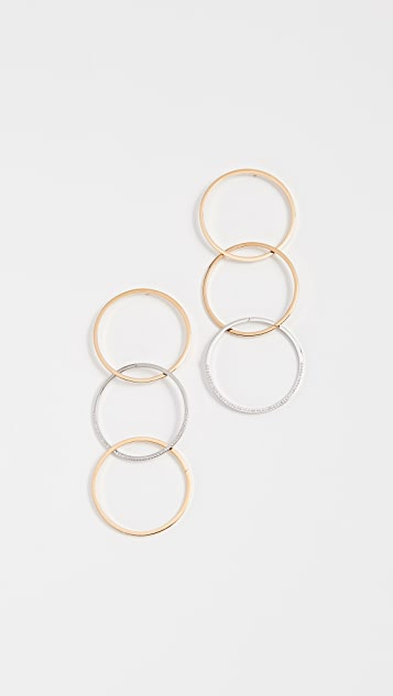 Vita Fede Zaha Link Earrings - Gold/Silver