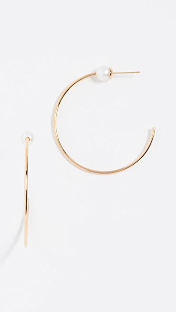 Vita Fede Sfera Freshwater Cultured Pearl Hoop Earrings