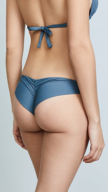 Vitamin A Samba Bikini Bottoms with Ruched Back