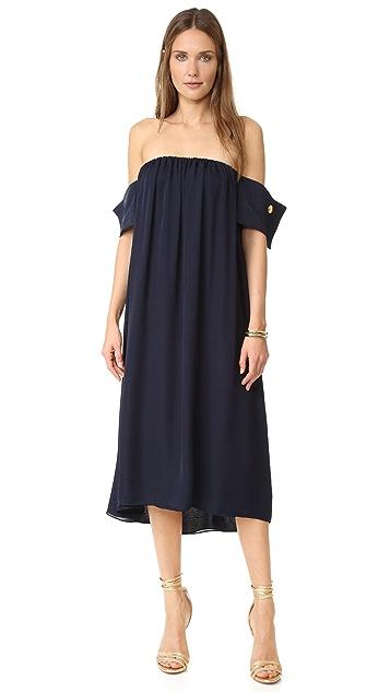 Viva Aviva Navy French Cuff Dress