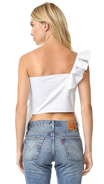 Viva Aviva One Shoulder Ruffle Top