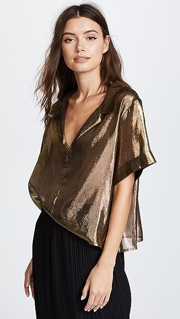 Viva Aviva Gold Bowling Shirt