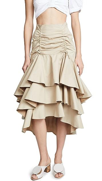 Viva Aviva Candelaria Khaki Skirt