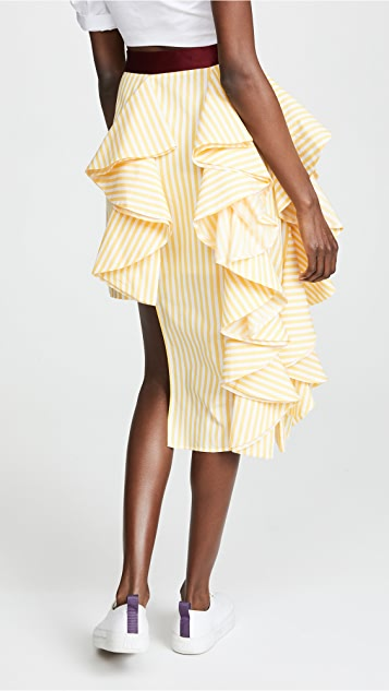 Viva Aviva Plumeria Midi Skirt