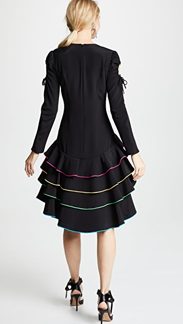 Viva Aviva Adora Tiered Corded Ruffle Dress
