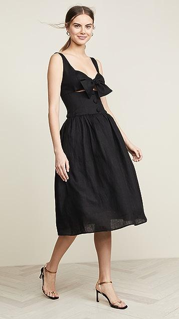 Viva Aviva Waimeae Full Skirted Peekaboo Dress - Black
