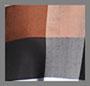 Brown Plaid Check/Black Bow