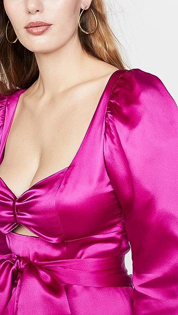 Viva Aviva Tiffany Satin Draped Dress