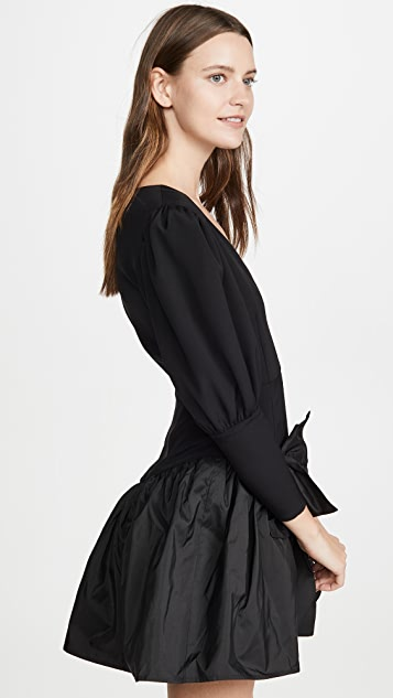Viva Aviva Nicole V Neck Puff Sleeve Dress