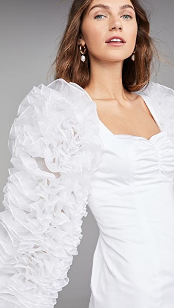 Viva Aviva Linen Lucerne Ruffle Sleeve Dress