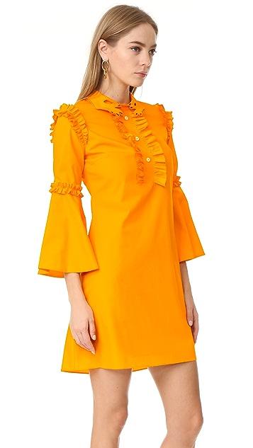 Vivetta Collared Ruffle Dress