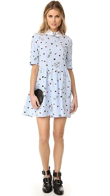 Vivetta Printed Collar Dress