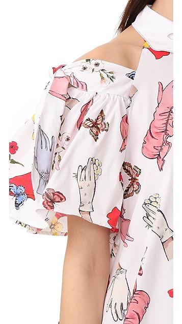Vivetta Cold Shoulder Mini Dress