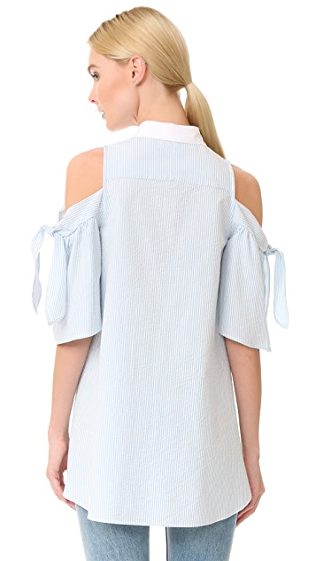 Vivetta Cold Shoulder Blouse
