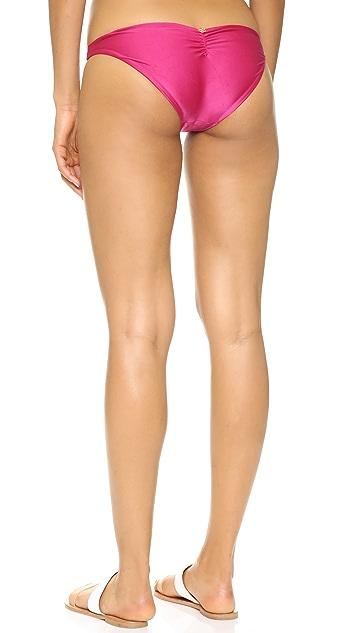 ViX Swimwear Solid Magenta Braid Bikini Bottoms